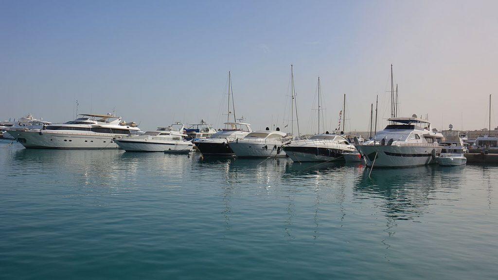 Båtar i Hurghada marina