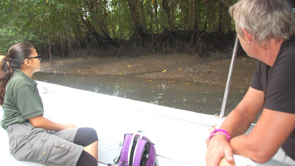 Vår guide i båten