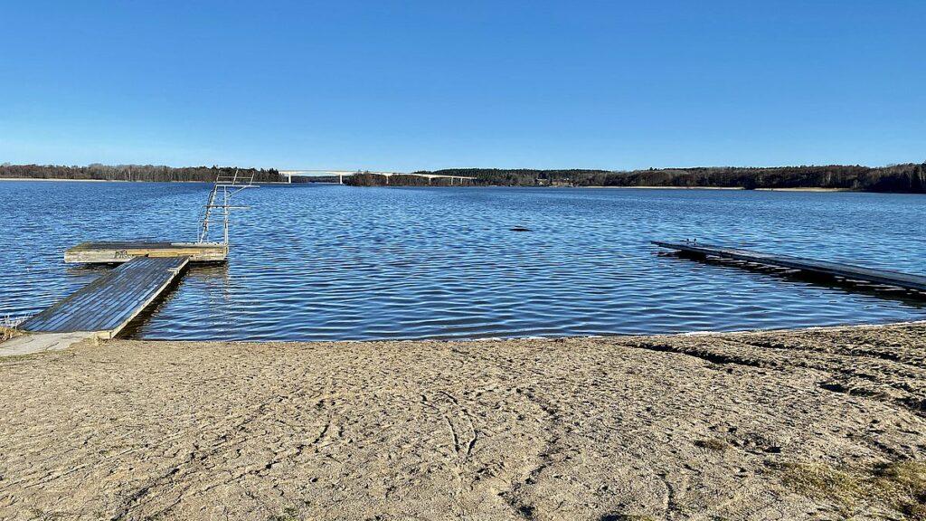 Göra i Strängnäs - bada på Visholmen