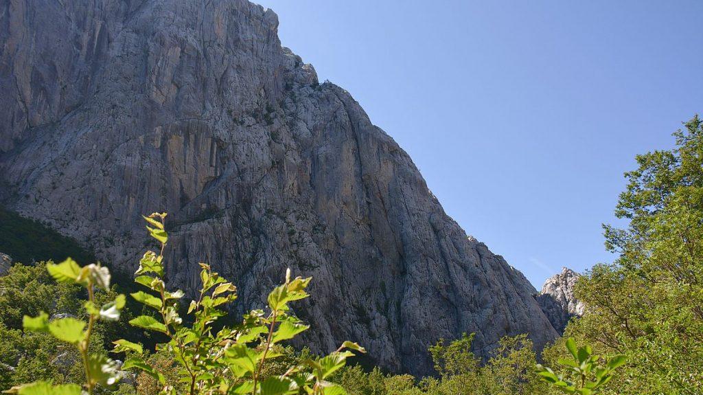 Paklenica nationalpark i Kroatien