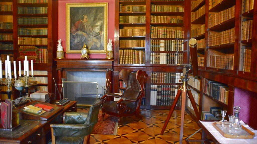bibliotek på Slottet Kynžvart i Tjeckien
