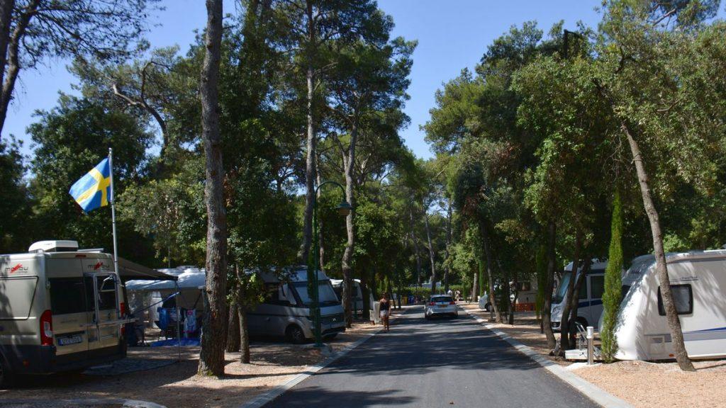 Camping Park Soline i Biograd i Kroatien