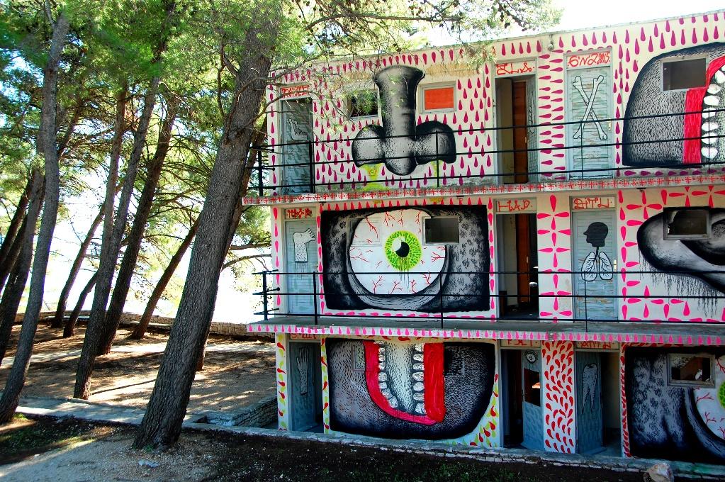 Hus i Bol på ön Brac