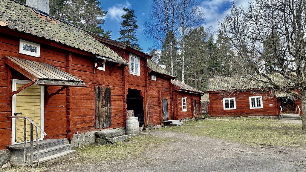 Bondgården på Ordmuseum på Vallby friluftsmuseum