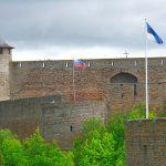 Narva i Estland – vid gränsen till Ryssland