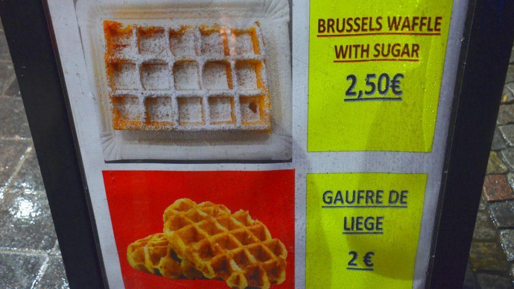 Belgiska våfflor i Belgien