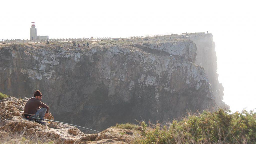Udden Cabo de sao Vicente vid Sagres i Portugal