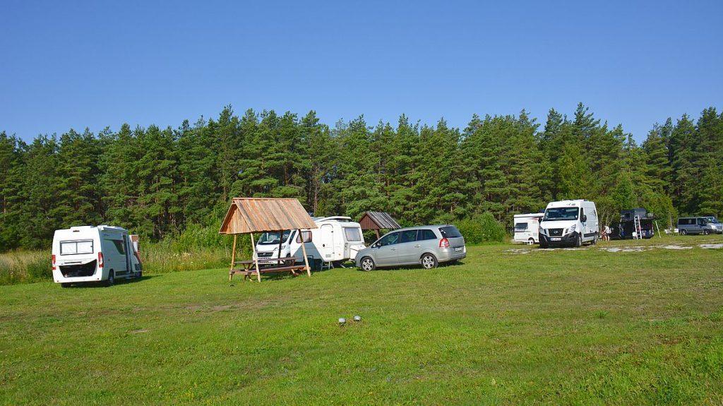 Camping på Ösel i Estland