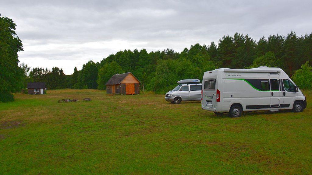 Camping Altja i Lahemaa nationalpark i Estland