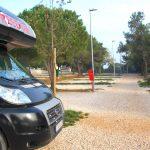 Nästan ensamma på enorm camping i Pula