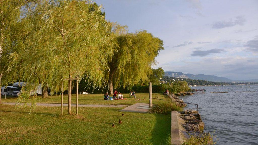 Ställplatser i Schweiz - Camping Geneve