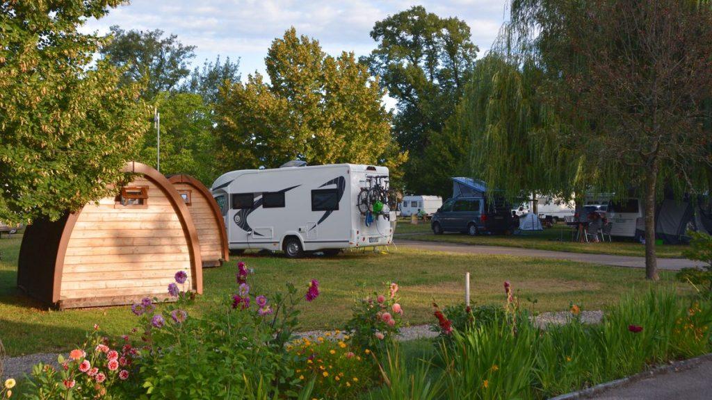 camping Geneve stugor