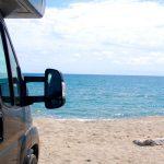 Camping på stranden på Korsika