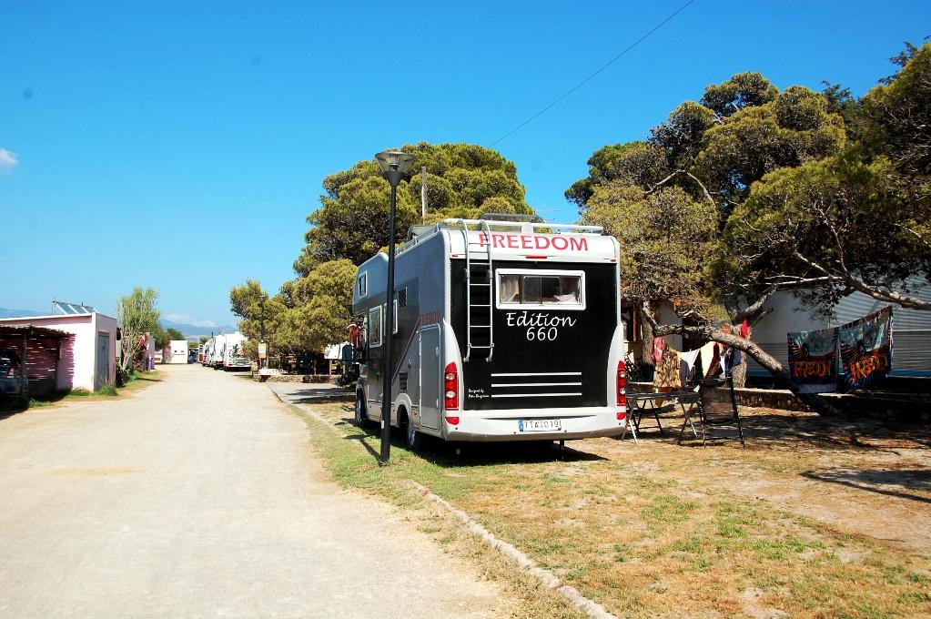Camping på södra Sardinien