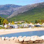 Härliga camping Stobrec i Split, Kroatien