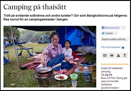Camping på thaisätt