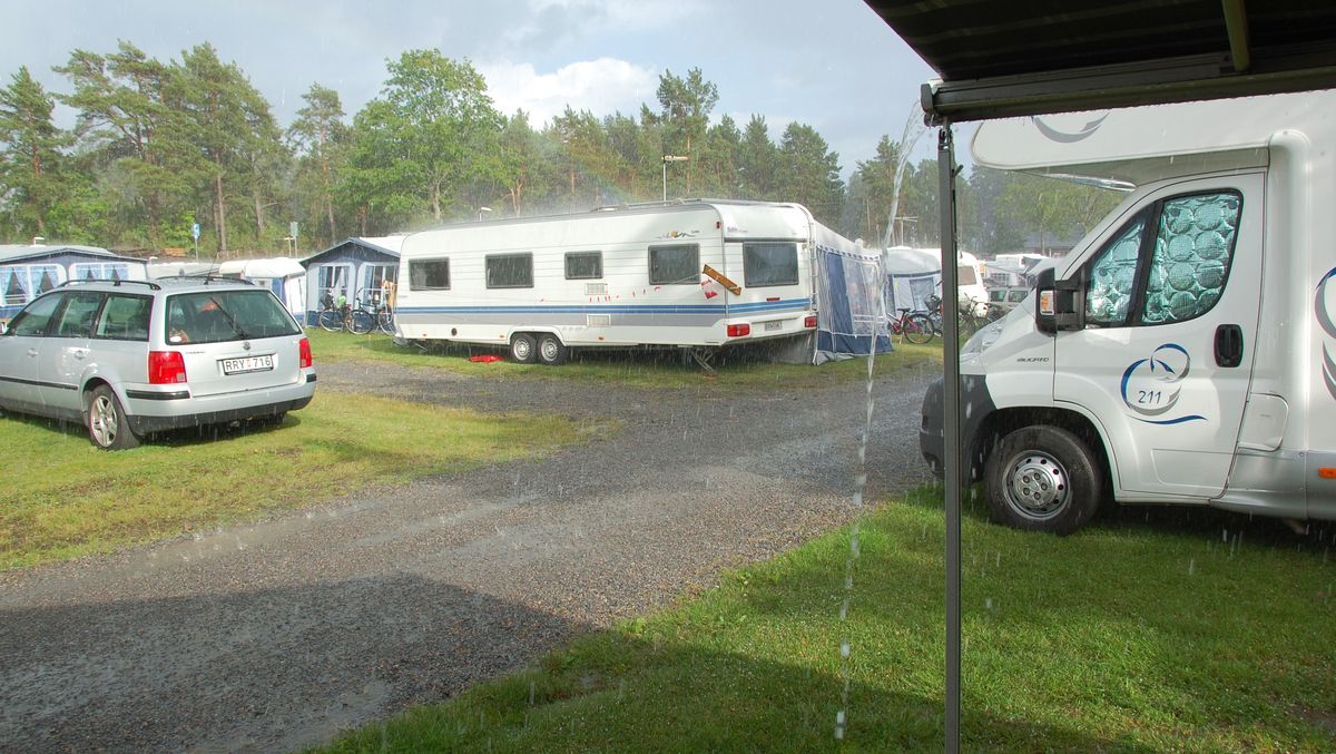Camping regn