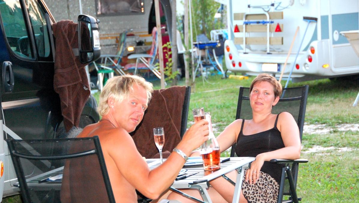 Camping vid Gardasjön