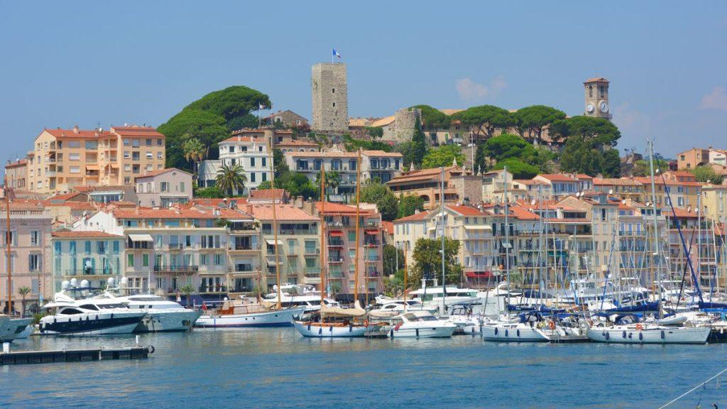 Cannes vid Frankrikes riviera