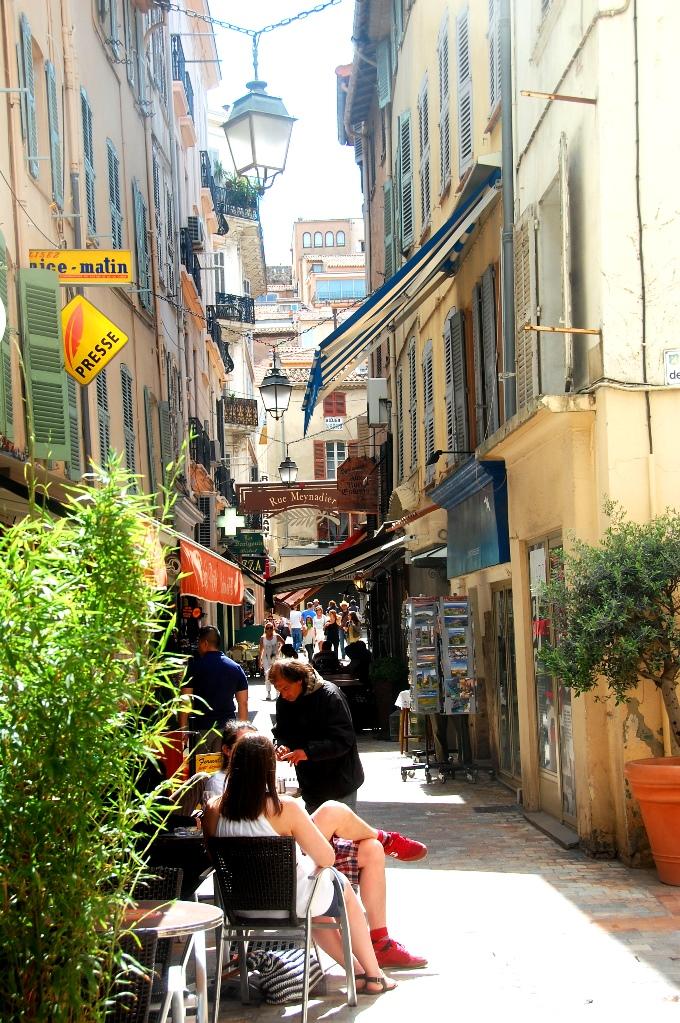Gränderna i Cannes, där vi sprungit runt idag...