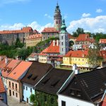 Sagostaden Cesky Krumlov – i Tjeckien