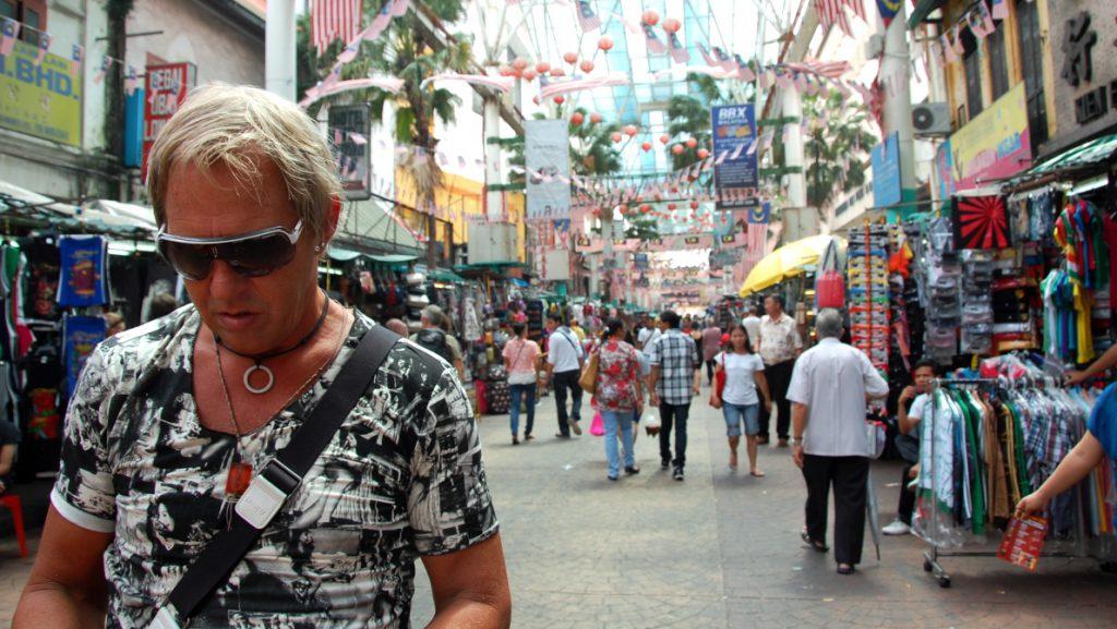 Peter i Chinatown i Kuala Lumpur