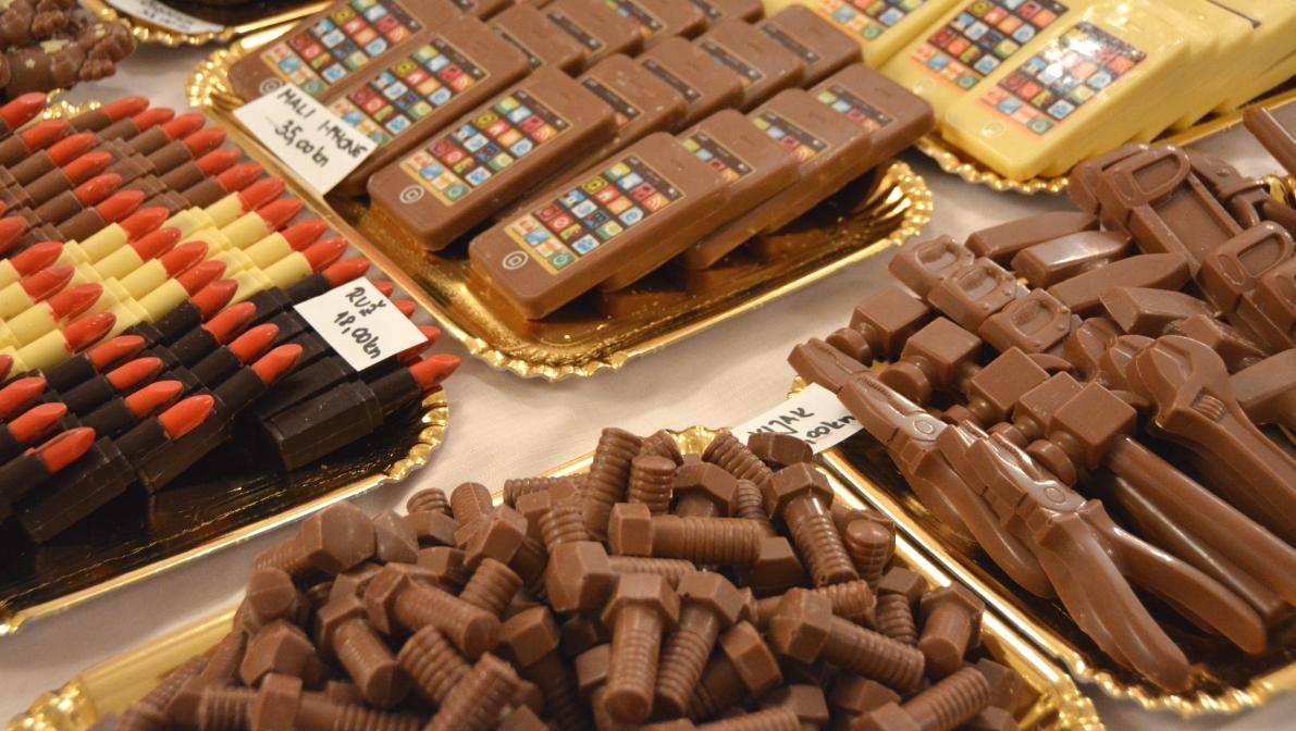 Choklad i olika former