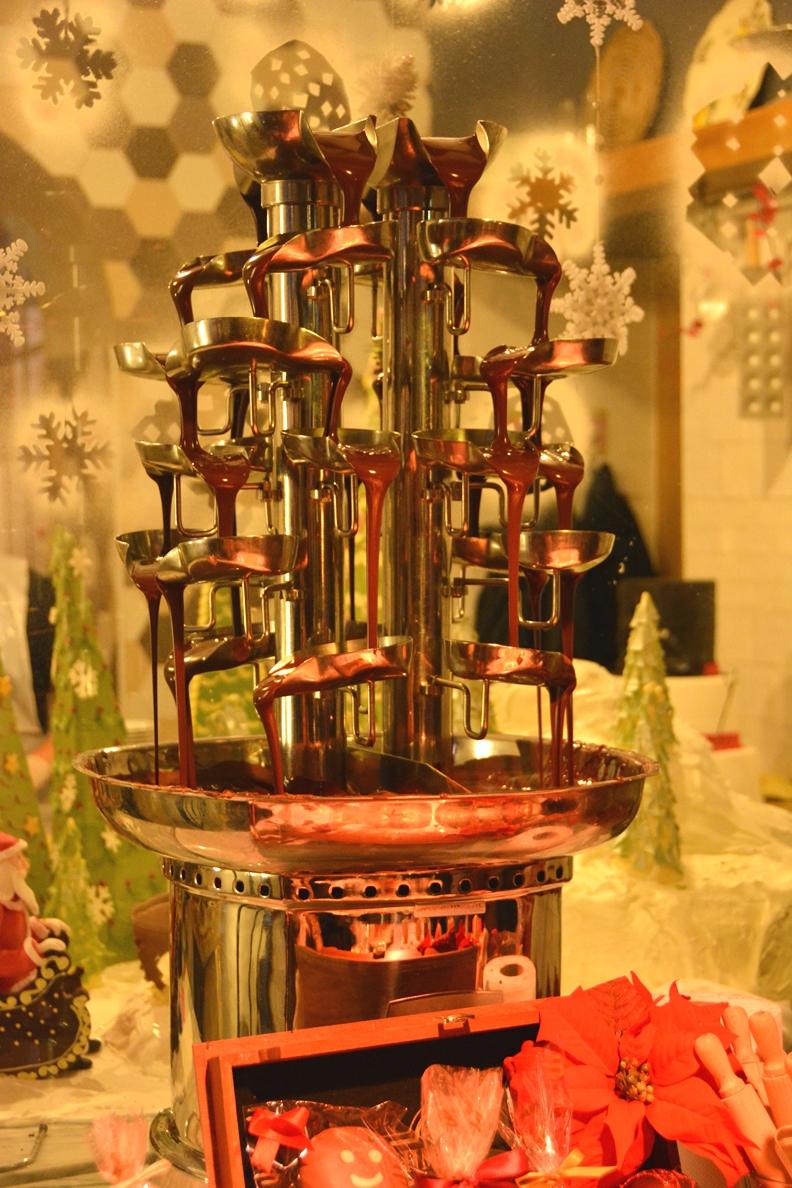 Chokladfontän och chokladmassage i Opatija