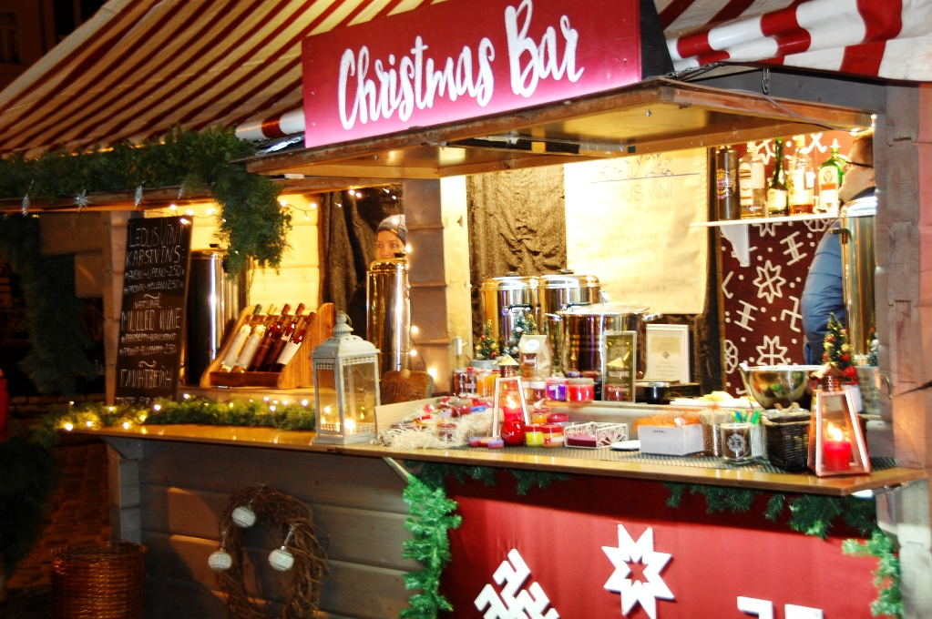 Julmarknad i Riga i Lettland
