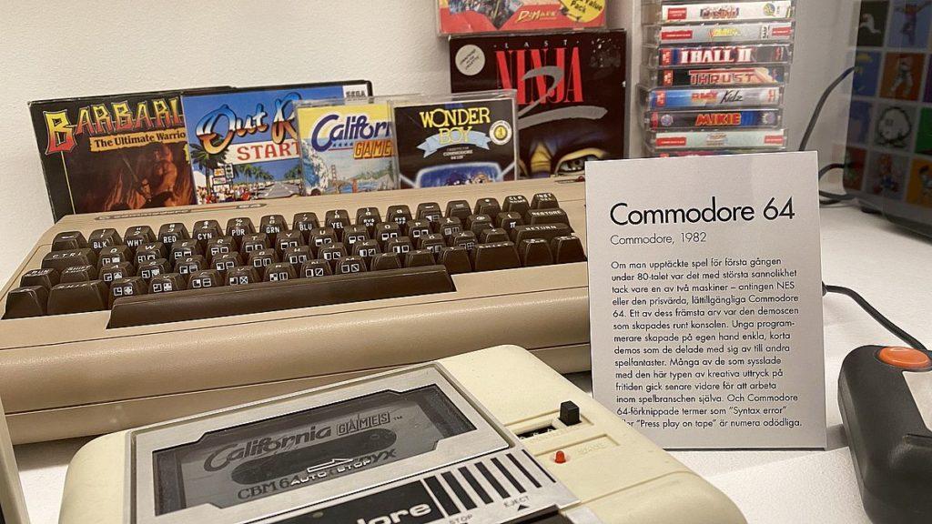 Commodore 64 på Stockholms spelmuseum