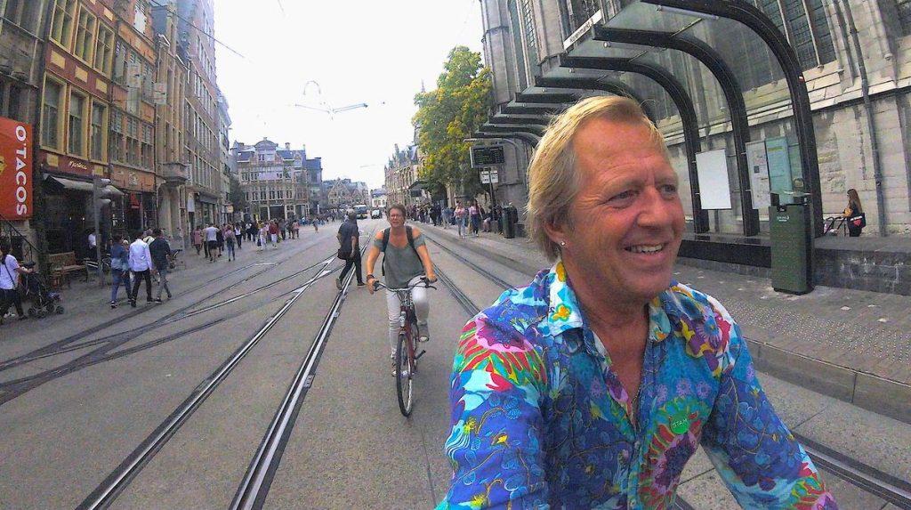 Cykla i Gent, Flandern i Belgien