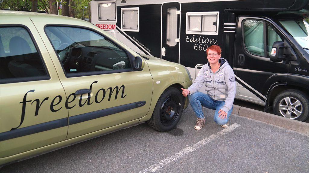 Nya däck på Mini-FREEDOM