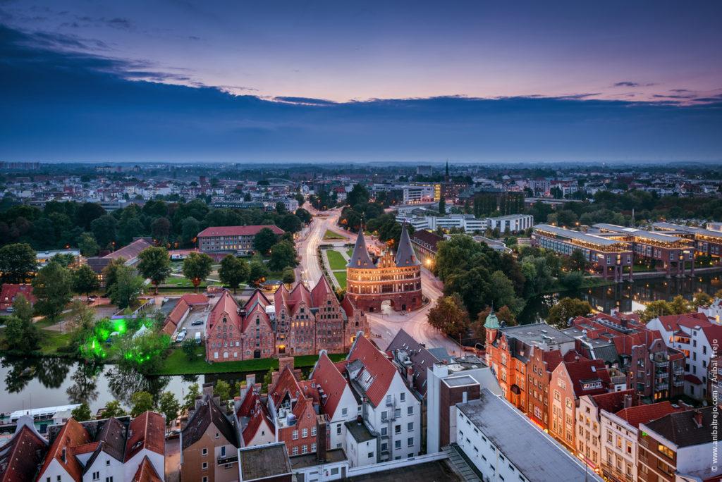 semestervägar i norra Tyskland