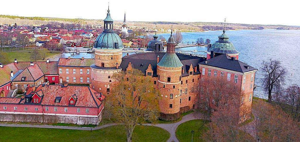 Gripsholms slott från ovan