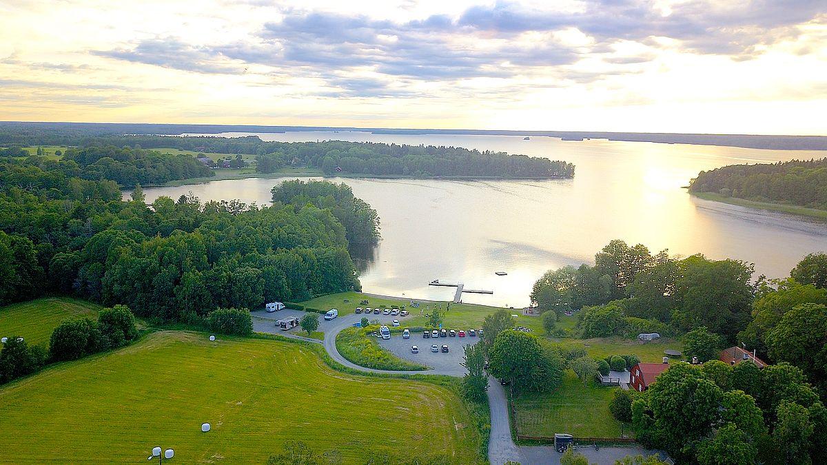 Fricamping vid sjön Erken