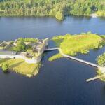 Kronobergs slottsruin i  Växjö – Vasa och Dackefejden
