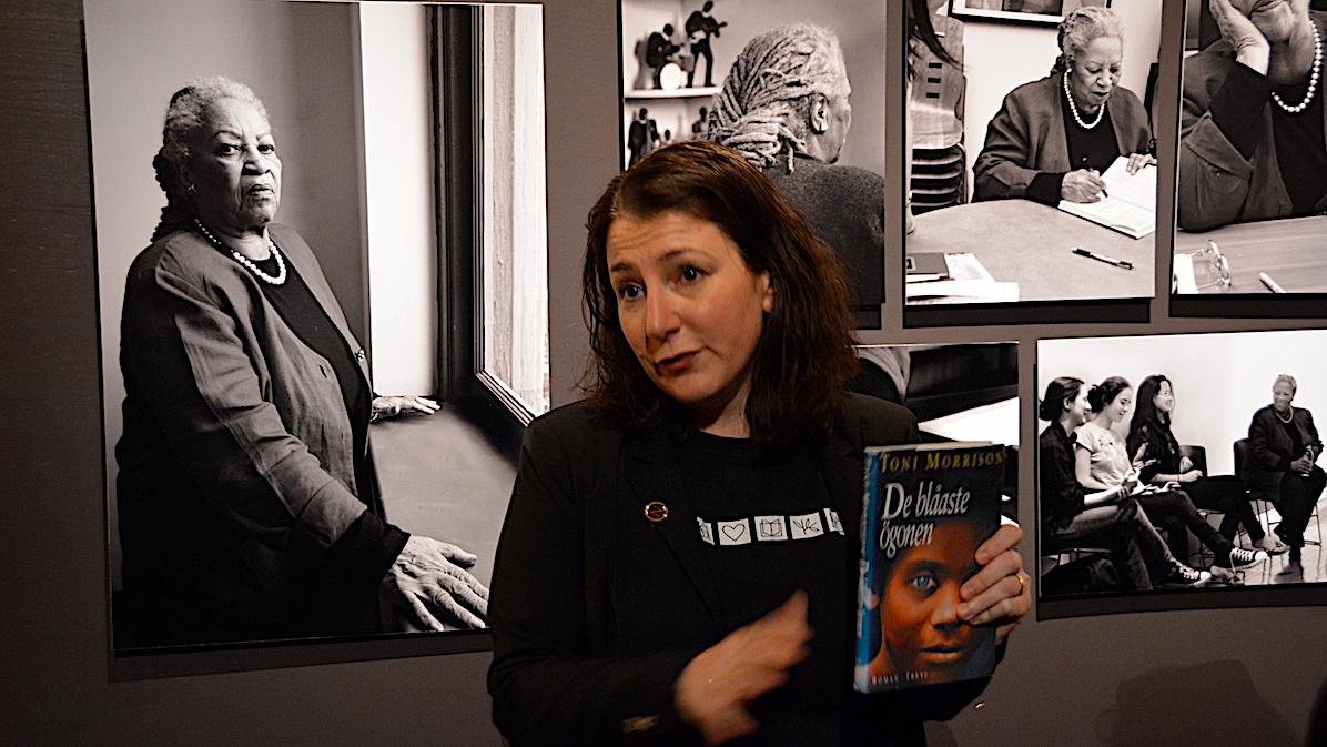 Vår eminenta guide berättade gripande om Toni Morrisons böcker