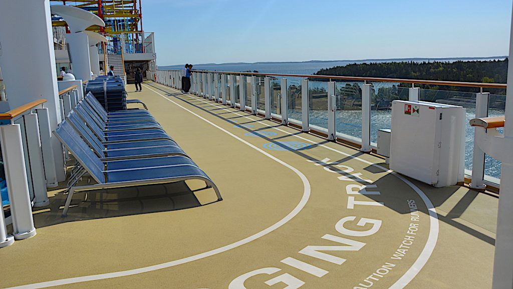 Löpbana på kryssningsfartyg