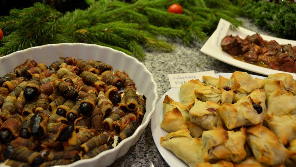 Julbord med modern julmat i Sverige