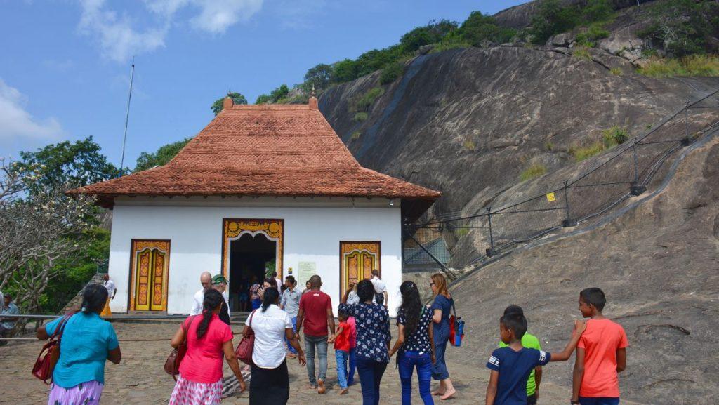 Gyllene grottemplet i Dambulla i Sri Lanka