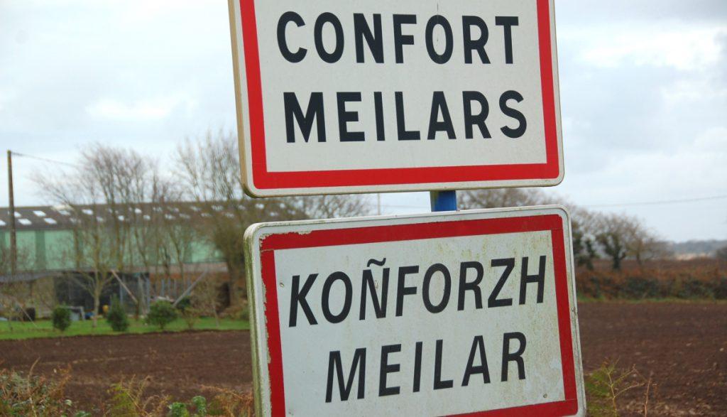 I Bretagne talas både franska och bretonska, men om man inte är bra på någotdera kan en app som översätter vara bra ...