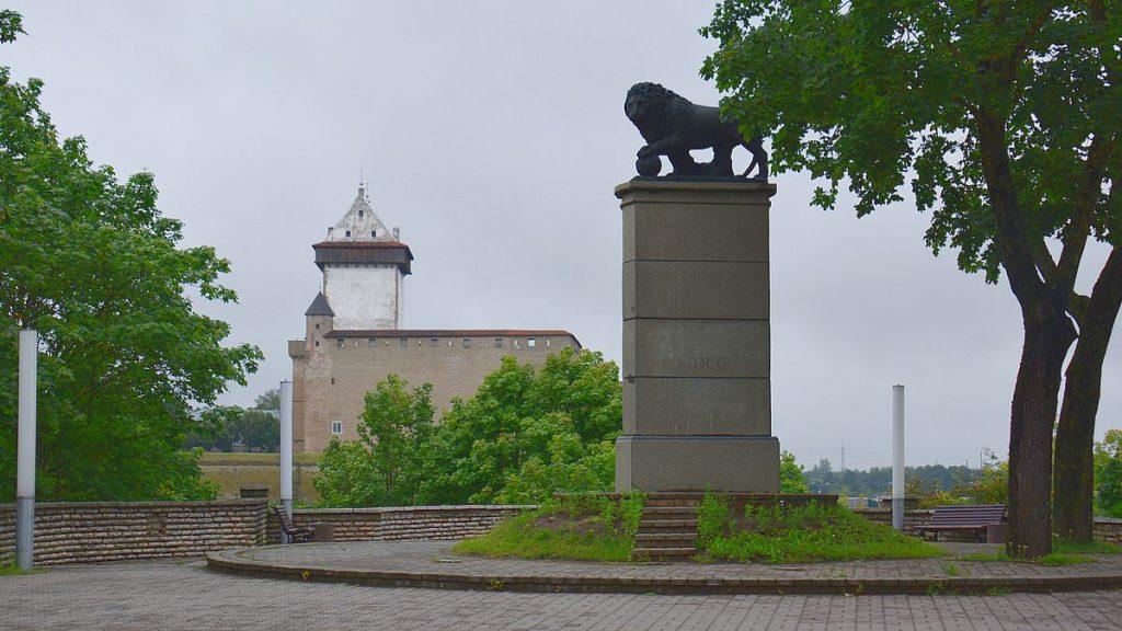 Det svenska lejonet i Narva i Estland