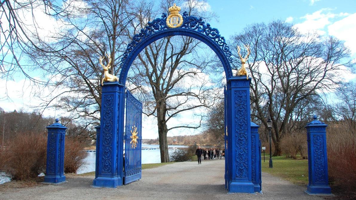 Djurgårdsporten var från början en av entréerna till de kungliga jaktmarkerna på Djurgården