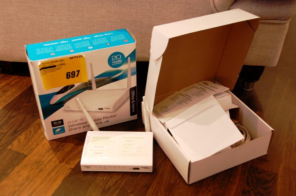 D-Link router - ska packas ner och återbördas till butik