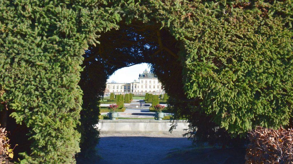 Drottningholms slottspark vid Drottningholms slott i Stockholm