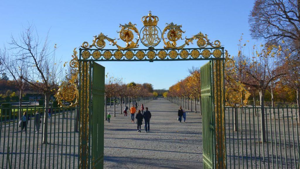 Drottningholmsparken vid Drottningholms slott i Stockholm