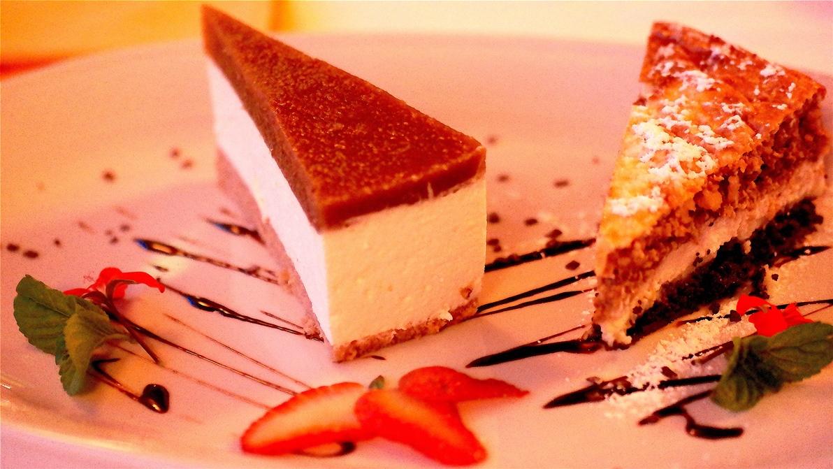 Efterrätt på restaurang Trost i Vrsar i Kroatien