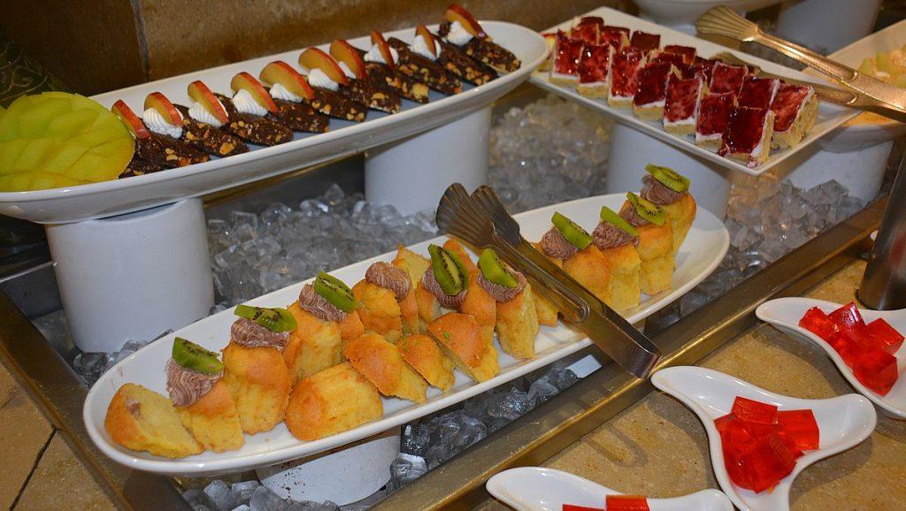 Buffet på Sultan Bey hotell i El Gouna