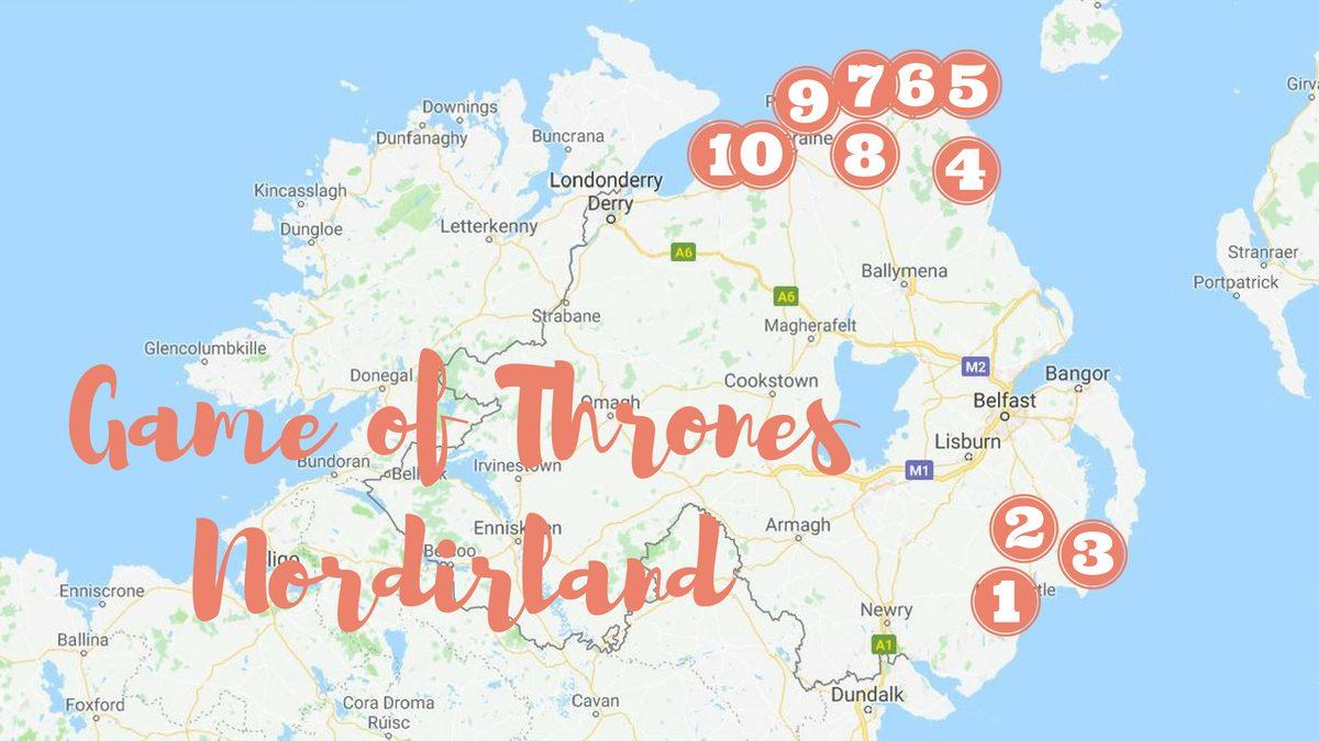 Inspelningsplatser för Game of Thrones i Nordirland