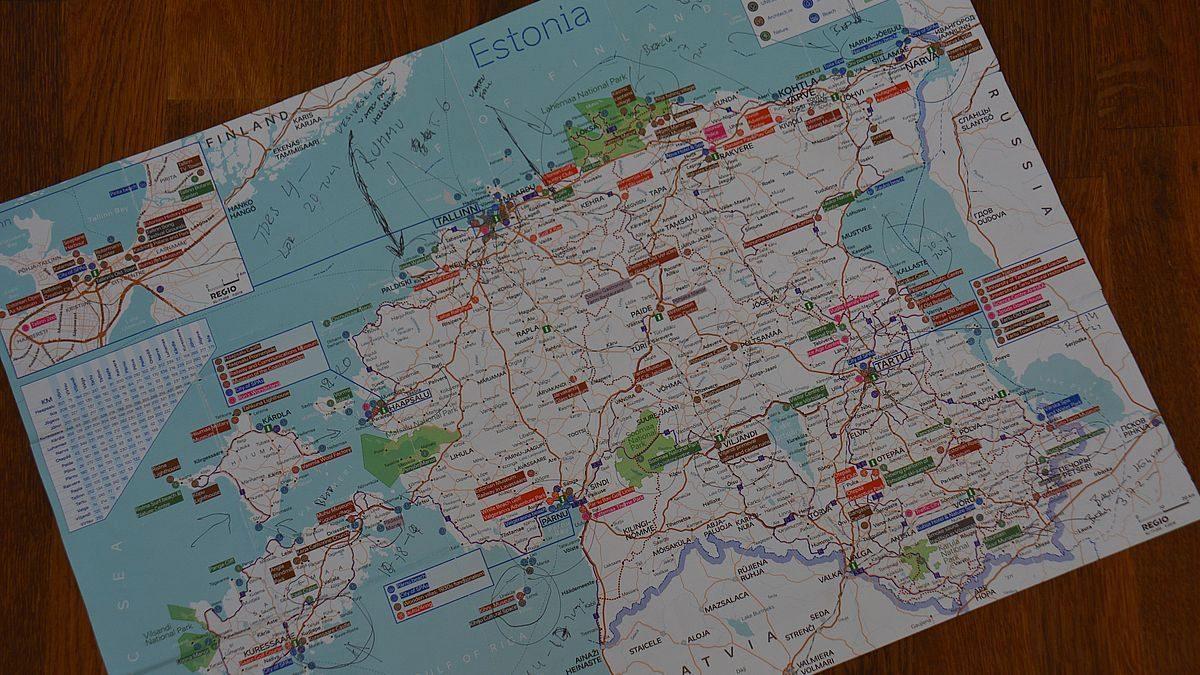 Estland karta